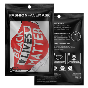 "Millionaire Vision ""Fist"" Face Mask - Red/Black"