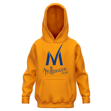 Kid's Hoodie - Orange/Navy