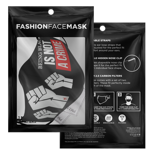Being Black Is Not A Crime Face Mask - Black/Red