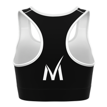 Load image into Gallery viewer, Signature Sports Bra - Black/White