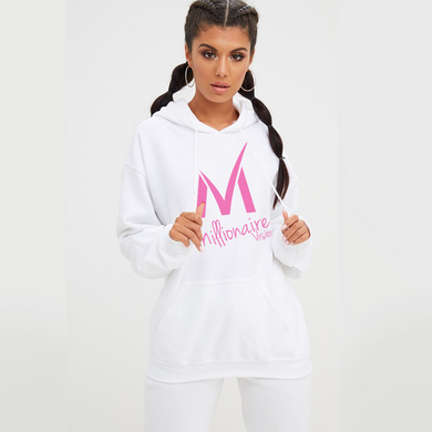 Women's Millionaire Vision Logo Hoodie - Pink/White