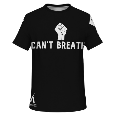 I Can't Breathe T Shirt - Black/White