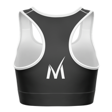 Load image into Gallery viewer, Signature Sports Bra - Dark Grey/White
