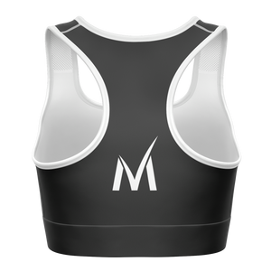 Signature Sports Bra - Dark Grey/White