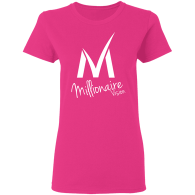 Ladies Millionaire Vision T-Shirt - Heliconia/White