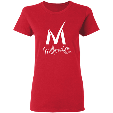 Ladies Millionaire Vision T-Shirt - Red/White