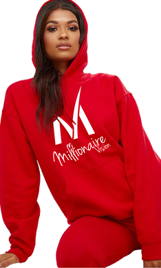 Women's Millionaire Vision Logo Hoodie - Red/White