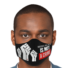 Load image into Gallery viewer, Being Black Is Not A Crime Face Mask - Black/Red