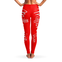 Load image into Gallery viewer, Millionaire Vision Leggings - Red/White