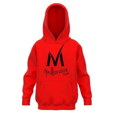 Kid's Hoodie - Red/Black