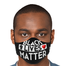 "Load image into Gallery viewer, Millionaire Vision ""Black Lives Matter"" Face Mask - Black/White"