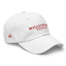 Load image into Gallery viewer, Millionaire Vision Print Dad Hat - White/Red