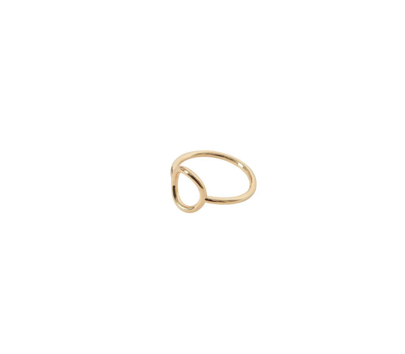 Gold Geometric Ring