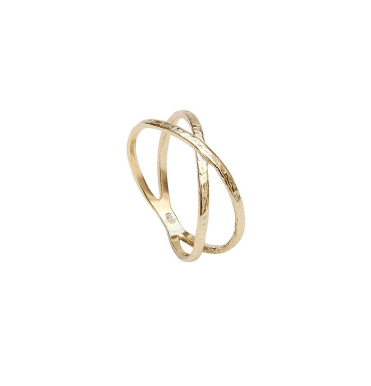 Gold Crossover Ring