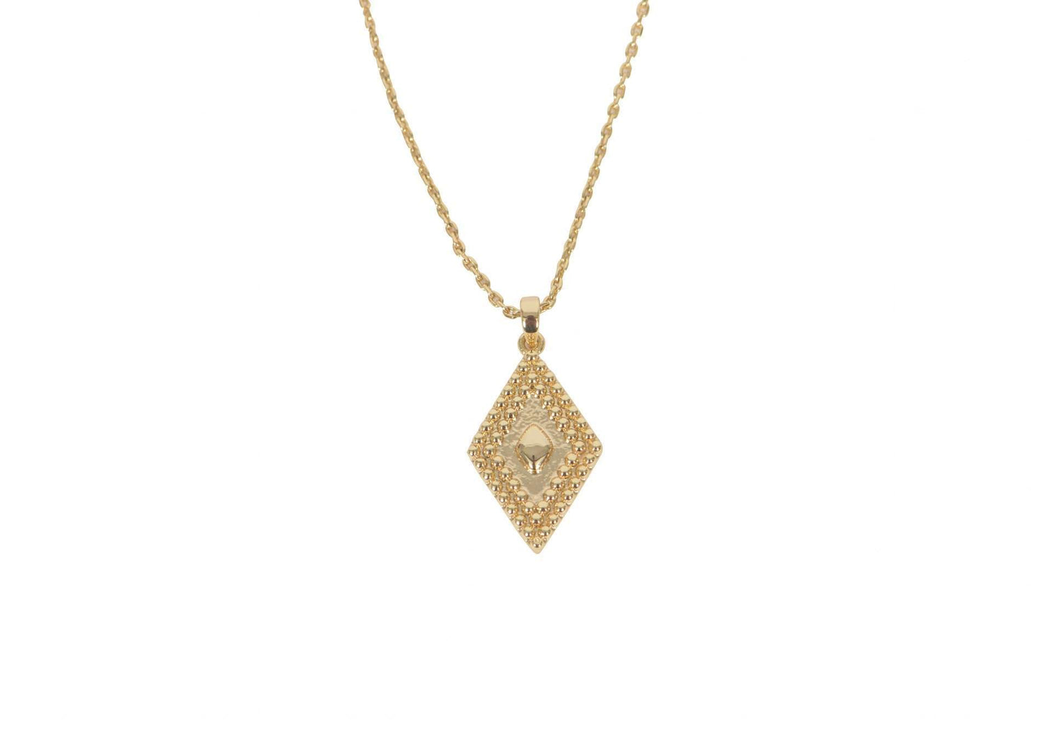 Gold Diamond Aztec Necklace