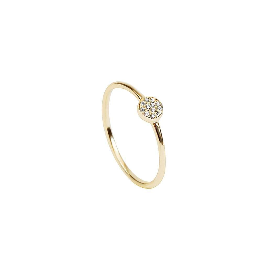 Gold Circle Crystal Ring