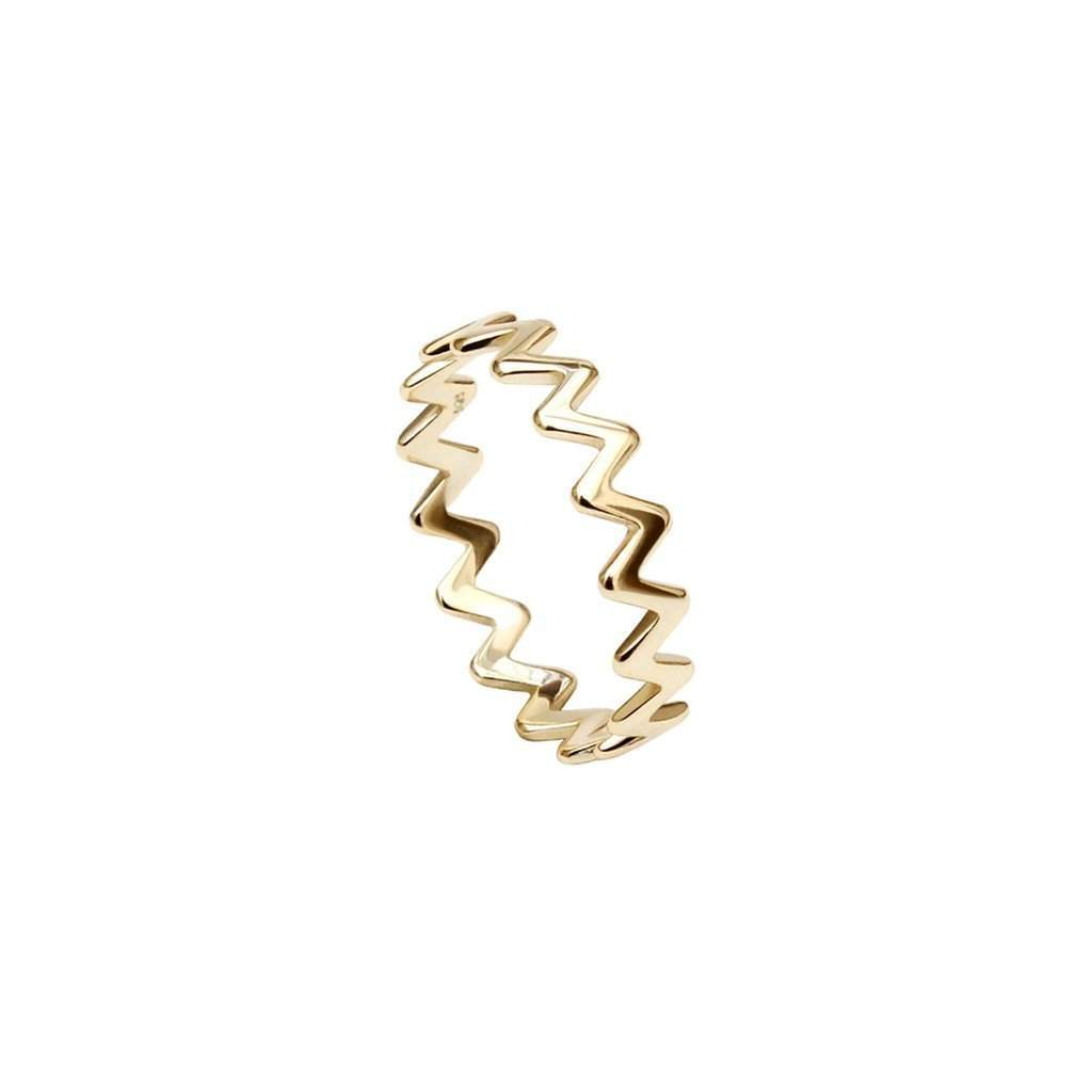 Gold ZigZag Ring