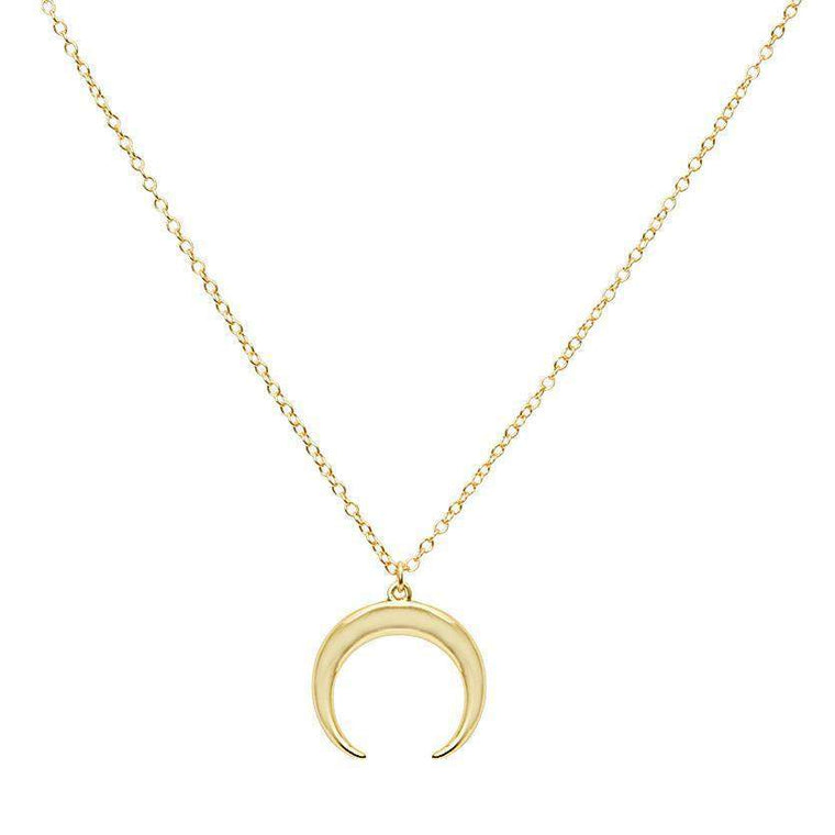 Gold Crescent Moon Necklace