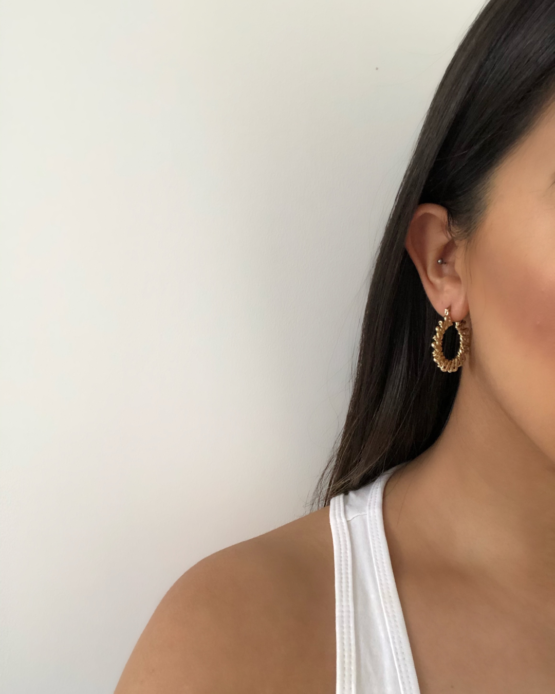 Gold Twisted Knot Hoops