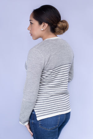 Diagonal Stripes Pullover