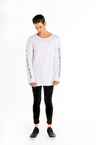 Oversized long-sleeved T-shirt  ''CULTURE x VULTURE''