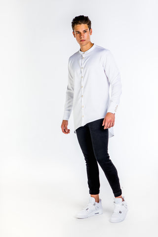 LONG FIT WHITE DRESS SHIRT