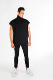 OVERSIZED SHORT SLEEVE TURTLENECK