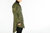 LONGER FIT KHAKI GREEN COAT
