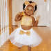 Gold Dress Set - Rowley's Baby Boutique  - Express U.S. Delivery