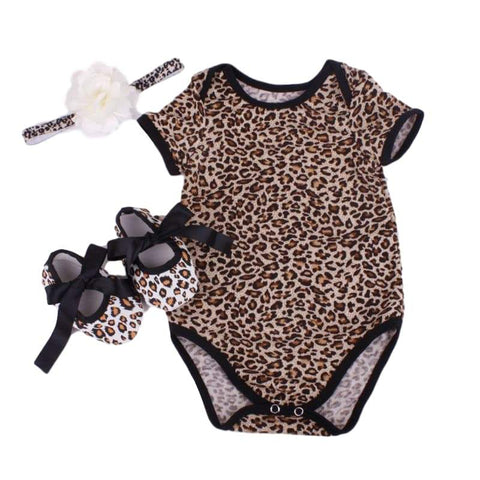 I'm Leopard Set - Rowley's Baby Boutique  - Express U.S. Delivery