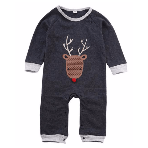 Kai Deer Romper - Rowley's Baby Boutique  - Express U.S. Delivery