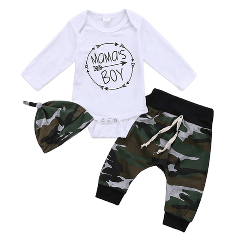 Camo Mama's Boy Set - Rowley's Baby Boutique  - Express U.S. Delivery