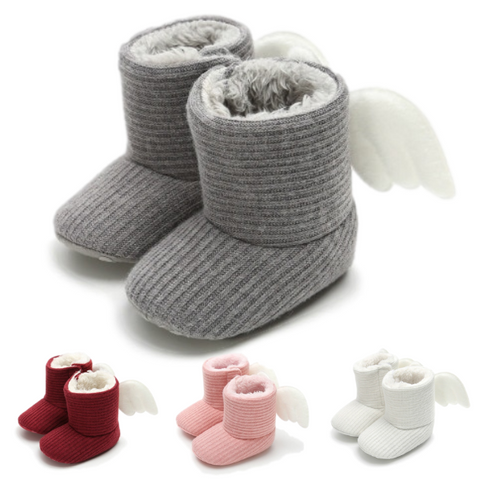 Angel Wings Boots - Rowley's Baby Boutique  - Express U.S. Delivery