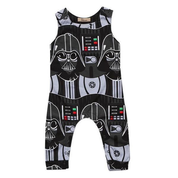 Darth Vader Romper - Rowley's Baby Boutique  - Express U.S. Delivery