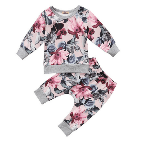 Fiona Floral Outfit - Rowley's Baby Boutique  - Express U.S. Delivery