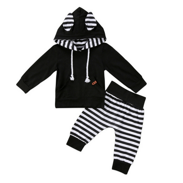 Kai Striped Pocket Set - Rowley's Baby Boutique  - Express U.S. Delivery