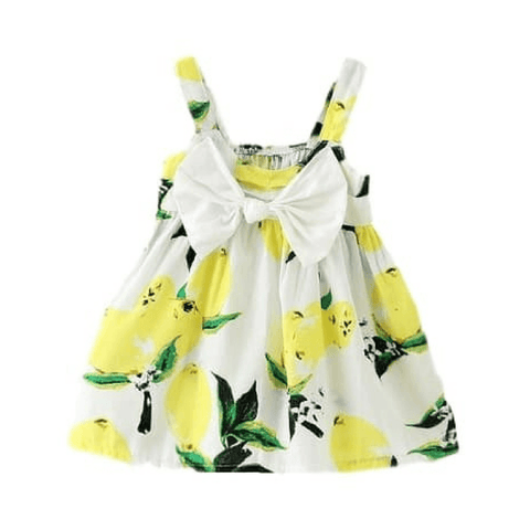 Fruit Yellow Dress - Rowley's Baby Boutique  - Express U.S. Delivery