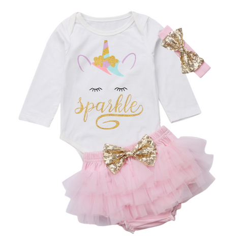 Nova's Unicorn Skirt Set