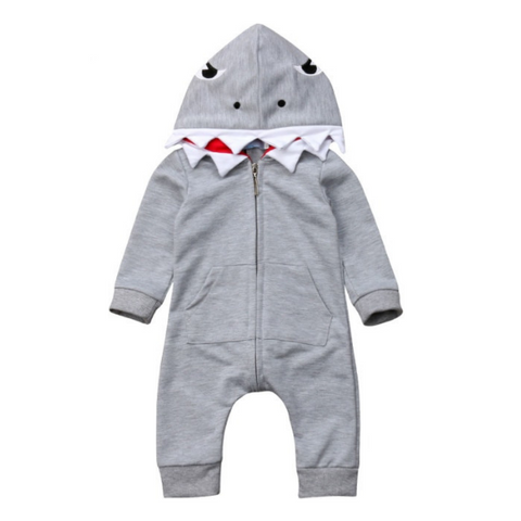 Shark Hooded Romper