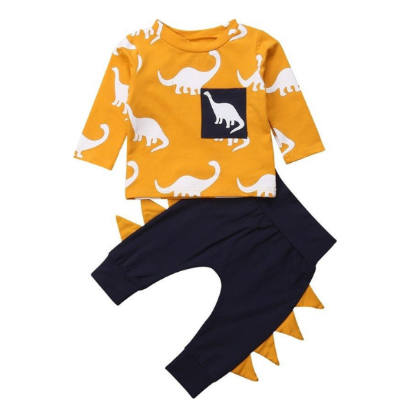 Asher's Dinosaur Outfit - Rowley's Baby Boutique  - Express U.S. Delivery