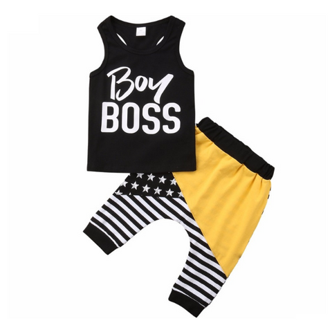 Boy Boss Outfit - Rowley's Baby Boutique  - Express U.S. Delivery