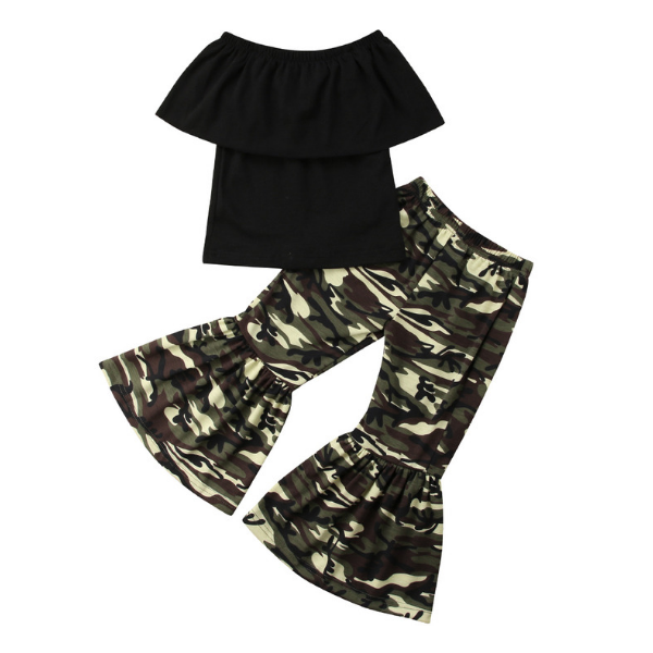 Gabriella's Camo Outfit - Rowley's Baby Boutique  - Express U.S. Delivery