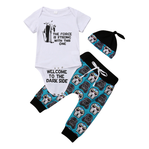 Adrian's Skulls Outfit - Rowley's Baby Boutique  - Express U.S. Delivery