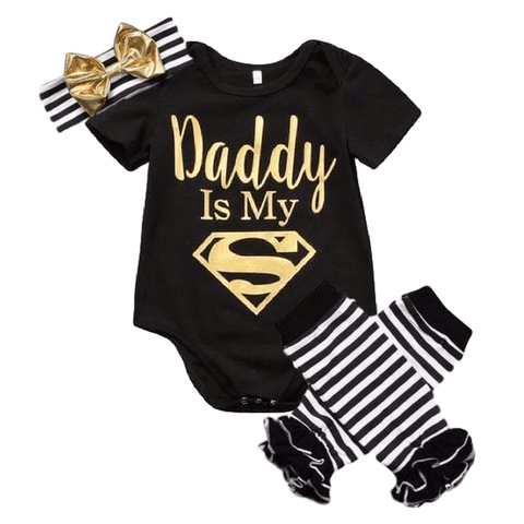 Dad is My Superman - Rowley's Baby Boutique  - Express U.S. Delivery
