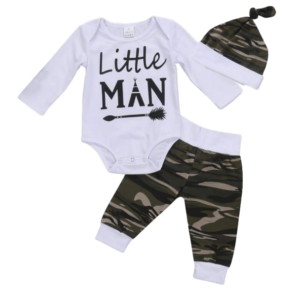 Little Man Camo Set - Rowley's Baby Boutique  - Express U.S. Delivery