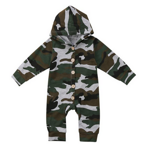 Camo Hooded Romper - Rowley's Shop - 4 Days U.S. Delivery