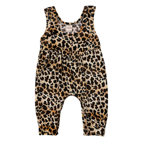 Leopard Jumpsuit - Rowley's Baby Boutique  - Express U.S. Delivery