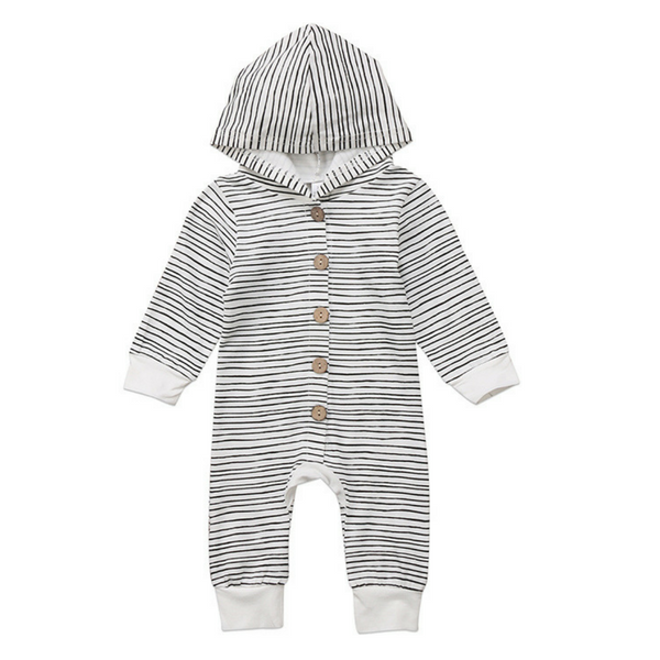 Leo's Hooded Romper - Rowley's Baby Boutique  - Express U.S. Delivery