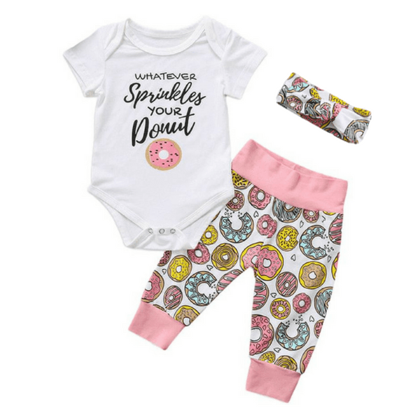 Donut Outfit - Rowley's Baby Boutique  - Express U.S. Delivery