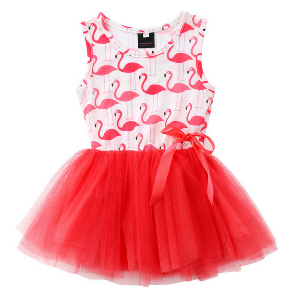 Flamingo Dress - Rowley's Baby Boutique  - Express U.S. Delivery